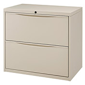 "30""W Premium Lateral File Cabinet, 2 Drawer, Putty"