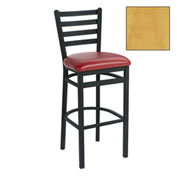 "Bar Stool, 4 Slat-Back, 17-1/2""W X 16""D X 43""H, Natural - Pkg Qty 2"