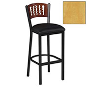 "Bar Stool w/Natural 5 Wave-Back, 17-1/2""W X 17""D X 42""H - Pkg Qty 2"
