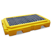 UltraTech 9611 Ultra-Spill Pallet Plus Containment Pallet P2 2-Drum with Drain