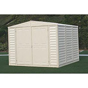 "Vinyl Outdoor Storage Shed w/Foundation, 7'10""W X 7'10""D X 6'1""H"