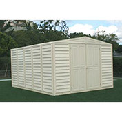 "WoodBridge Vinyl Outdoor Storage Shed w/Foundation, 10'5""W X 13'D X 7'1""H"