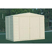 "Vinyl Outdoor Storage Shed w/Foundation, 7'10""W X 5'3""D X 6'1""H"