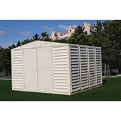 "WoodBridge Vinyl Outdoor Storage Shed w/Foundation, 10'5""W X 10'5""D X 7'1""H"