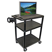 "Audio Visual Cart, 32"" x 24"", 400 lbs Capacity"