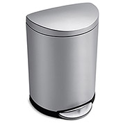 SIMPLEHUMAN Half-Round Stainless Steel Step Can - 2.6-Gal. Capacity