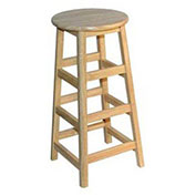 "Hardwood Stool, 30"" High"
