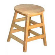 "Hardwood Stool, 18"" High"