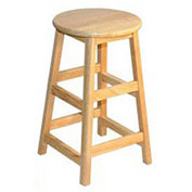 "Hardwood Stool, 24"" High"