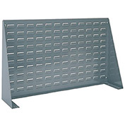 "Steel Louvered Bench Rack, 36"" x 8"" X 20"", Gray"