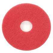 "13"" Red Buffing Pad, 5/Case"