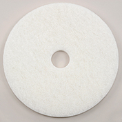 "17"" White Polishing Pad, 5/Case, 401217"