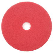 "17"" Red Buffing Pad, 5/Case"