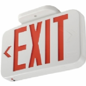 Lithonia EXR LED EL M6 Red LED Exit Sign with Battery Back-Up