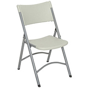 Blow Molded Resin Folding Chair, Gray - Pkg Qty 4