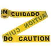 """""""CAUTION"""" Tape, 300' x 3"""", Yellow, 1 Roll"""