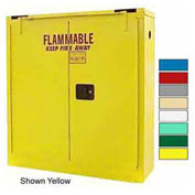 24-Gallon Self-Close, Wall-Mounted Flammable Cabinet Md Green