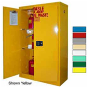 45-Gallon, Manual Close, Haz Waste Safety Can Cabinet Red