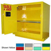24-Gallon Sliding Door Laboratory Cabinet Blue