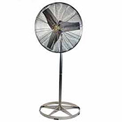 "Airmaster Fan 70836 24"" Washdown Pedestal Fan 1/4 HP 5220 CFM"
