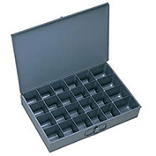"DURHAM Compartment Box - 13-1/4x9-1/4x2"" - (24) Compartments - With Fixed Dividers - Pkg Qty 6"