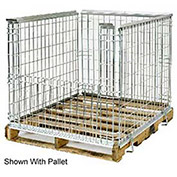 Lafayette Wire Folding Wire Pallet Surround, 48x40x34