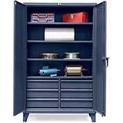 STRONG HOLD Ultra-Capacity Cabinet with Drawers - 60x24x78""