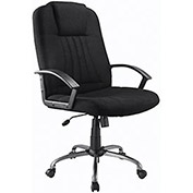Executive Chair, Fabric Upholstery, Black