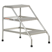 Step Stand, 3 Step, Welded, Aluminum