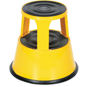 "VESTIL Steel Step Stool - 18x17"" - Yellow"