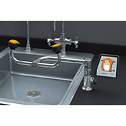 Eye/Face Wash, Deck Mounted, 90-Degree Swivel, Right Hand Mounting