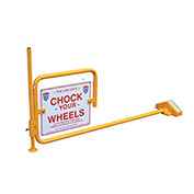 "Railroad Flag Rail Car Chock - ""Chock Your Wheels"""