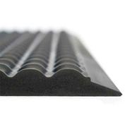 Ergomat Basic Bubble Anti-Fatigue Mat, 2' X 6', Anthracite
