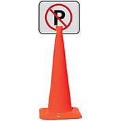 "Snap-On Signs for Traffic Cones - 14""Wx10""H - Pkg Qty 5"