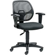 Task Chair with Mesh Back and Fabric Upholstered Seat