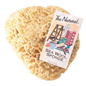 "8-9"" Natural Sea Wool Sponge #1 Cut, 3/Pk"