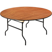 """Round Folding Banquet Table, 60"""", Plywood"""