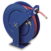COXREELS Supreme-Duty Self-Retracting Air/Water Hose Reel - Hose Inside Diameter 1/2 - 75' Hose