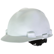 Adjustable 1 Touch® Suspension V-Gard Hard Hat, White