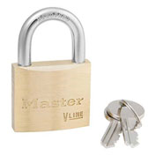 Master Lock® General Security Brass Solid Body Padlocks - Pkg Qty 3