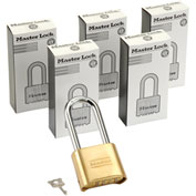 Master Lock® Combination Padlock, Resettable Bottom - No. 175lh - Pkg Qty 6