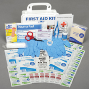 Pac-Kit® 10 Person First Aid Kit, Weatherproof Plastic, ANSI Plus Pac-Kit®