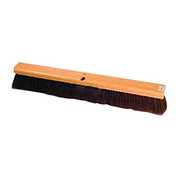 Wood Push Broom, Horsehair
