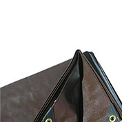 Super Heavy Duty Brown Tarp 8 OZ., 10'x10'