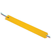 Hose & Cable Ramp and Protector, Molded Rubber, Yellow