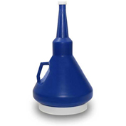 Funnel King® 1-1/4 Quart Double Capped Funnel - Dark Blue