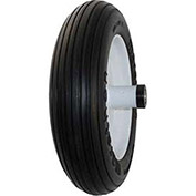 Marathon 3.50/2.50-8 Flat Free Wheelbarrow Tire, Ribbed Tread