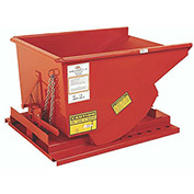 "MECO All-Welded Self-Dumping Steel Hopper - 12-Gauge Steel - 49-1/2""Lx29""Wx26""H - Dark Orange"