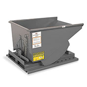 "MECO All-Welded Self-Dumping Steel Hopper - 10-Gauge Steel - 63-1/2""Lx41""Wx38-1/2""H - Gray"