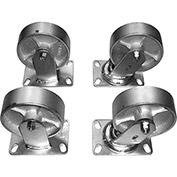 "Casters for All-Welded Self-Dumping Steel Hoppers - 6x2"" - Semi-Steel"